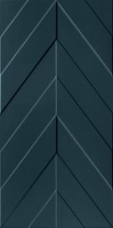 4D Chevron Deep Blue Matt