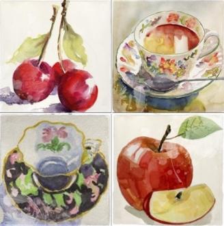 Acuarela Frutas Set A