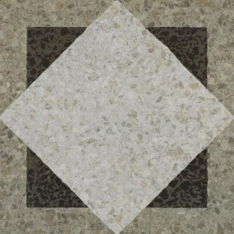 Accademia Decoro Quadrato Bianco/Grigio/Nero
