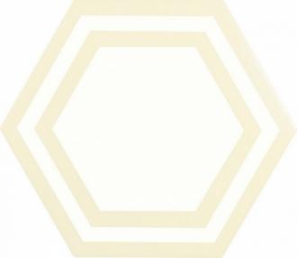 ADPV9017 Pavimento Hexagono Deco Bone