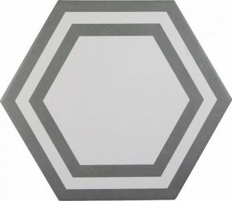 ADPV9018 Pavimento Hexagono Deco Dark Gray