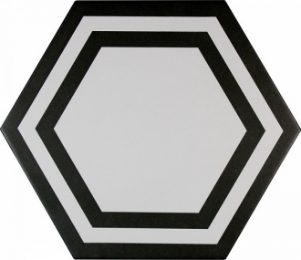 ADPV9020 Pavimento Hexagono Deco Black