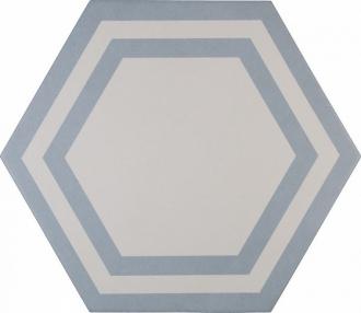 ADPV9021 Pavimento Hexagono Deco Azure