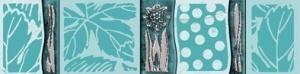 Бордюр Нефрит керамика Агидель Листопад 05-01-1-52-03-71-006-0 5x20 глянцевый