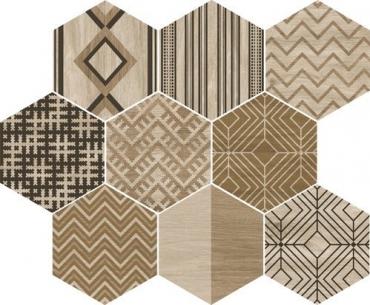 Декоративный элемент APE Alabama Decowood Haya Mix 25x29 матовый