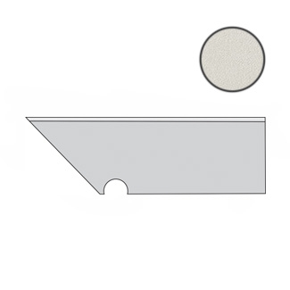 Arkshade White Battiscopa Sag. SX AUI4