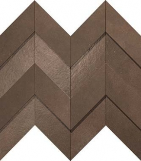 Dwell Brown Leather Chevron 3D A1DO