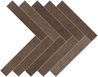 Dwell Brown Leather Herringbone A1DE