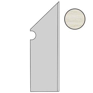 Etic Rovere Bianco Battiscopa Sag.DX ANAL
