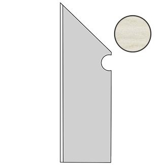 Etic Rovere Bianco Battiscopa Sag.SX ANCN