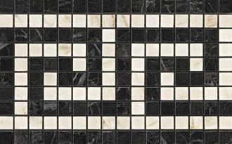 Marvel Noir/Cremo Greca Mosaico ADRJ