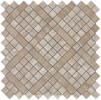 Marvel Travertino Silver Diagonal Mosaic 9MVB