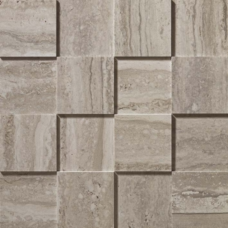 Marvel Travertino Silver Mosaico 3D ADP9