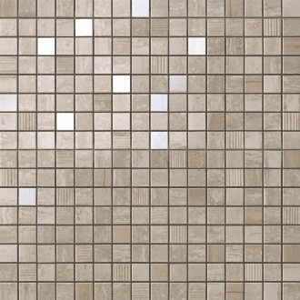 Marvel Travertino Silver Mosaico Lapp. ADQF