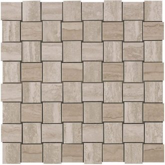 Marvel Travertino Silver Net Mosaic 9MVM