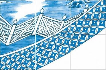 Панно Bardelli Blue Willow 5 BE 40x60 глянцевое
