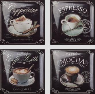Botanic-Coffee-WineCoffee Decors 4pz