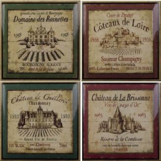 Botanic-Coffee-WineWine Decors Label 4pz