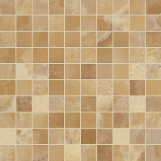 Charme Mosaico Quadro T100 Onice Gold 44285