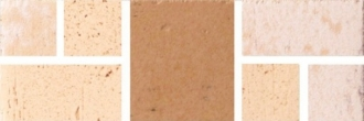 Cotto d' Albe Sand/White Medieval 2050/212