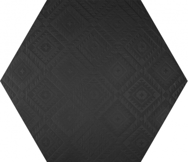 Керамогранит 41zero42 Clay 41 Esagona Navajo Black 19,5x22,5 матовый