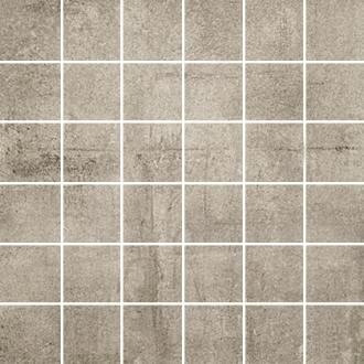 Concrete Mosaico Tozzetto Taupe Lapp.
