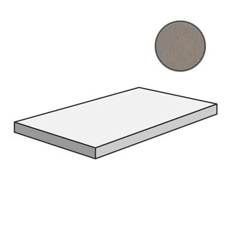 Dechirer Angolare corner tile SX Cenere PUDT48