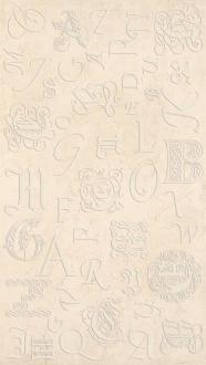 Decor Monograms Beige Brilho