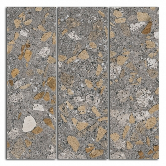 Декор Терраццо коричневый мозаичный SG184/001