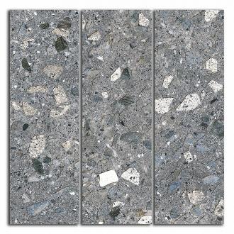 Декор Терраццо серый темный мозаичный SG184/004