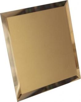 Квадратная зеркальная бронзовая плитка с фацетом 10 мм КЗБ1-02