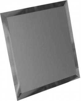 Квадратная зеркальная графитовая матовая плитка с фацетом 10 мм КЗГм1-02