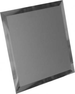 Квадратная зеркальная графитовая плитка с фацетом 10 мм КЗГ1-02