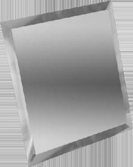 Квадратная зеркальная серебряная плитка с фацетом КЗС1-15
