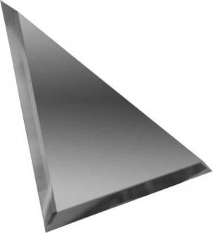 Треугольная зеркальная графитовая плитка с фацетом 10 мм ТЗГ1-02