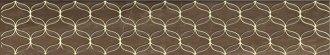 Ethereal Gold Geometric Border Brown Glossy K083596