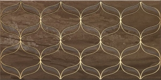 Ethereal Gold Geometric Decor Soft Brown Glossy K082266