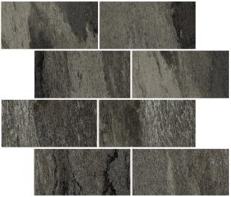 Flagstone Muretto Sfalsato Black Glossy