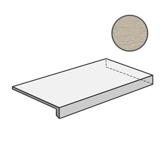 Flow Angolare corner tile DX Sand 603123
