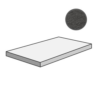 Flow Angolare corner tile SX Dark Grey 603219