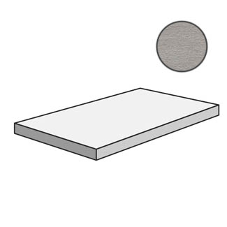 Flow Angolare corner tile SX Light Grey 603217