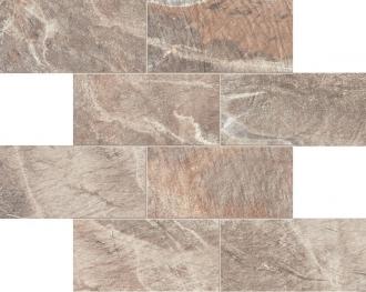 Fossil Mosaico Muretto Fossil Brown