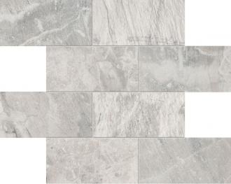 Fossil Mosaico Muretto Fossil Light Grey