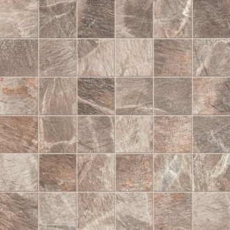 Fossil Mosaico Quadretti Fossil Brown