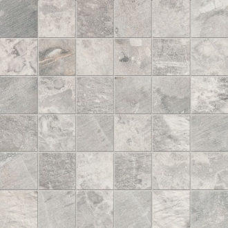 Fossil Mosaico Quadretti Fossil Light Grey