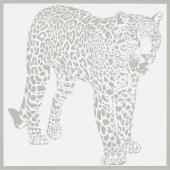 Gran Gala Leopardo A Caccia Bianco