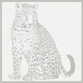 Gran Gala Leopardo Seduto Bianco