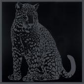 Gran Gala Leopardo Seduto Nero