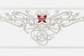 Gran Gala Listello Tat Butterfly Bianco