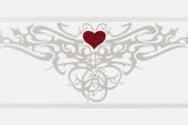Gran Gala Listello Tattoo Heart Bianco